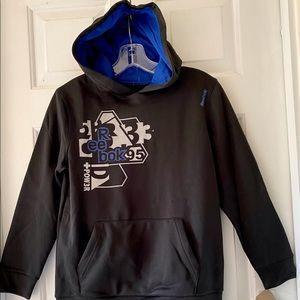 NWT Reebok Boys Black Pullover Hoodie Top Medium